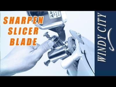 How to sharpen slicer blade tutorial DIY Windy City Restaurant Equipment Parts