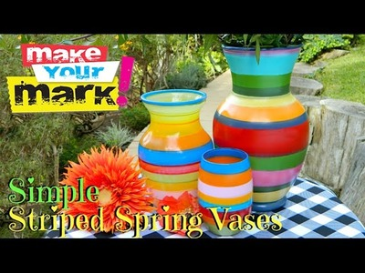 How to: Simple Striped Spring Vases