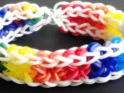 Loom Bandz Anleitung Deutsch Starburst Armband (Loom Bands Deutsch Tiere, Rainbow Loom Deutsch)
