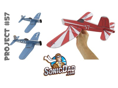 Make a Foam Airplane that is Better Than Balsa Wood! SonicDad Project #57 - the F4U Corsair