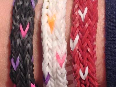New Rainbow Loom Moving Heart Bracelet- Hearts All Around