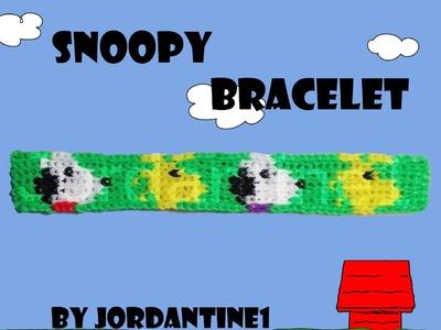 New Snoopy Bracelet Pattern - Alpha Loom. Rainbow Loom - Peanuts Woodstock