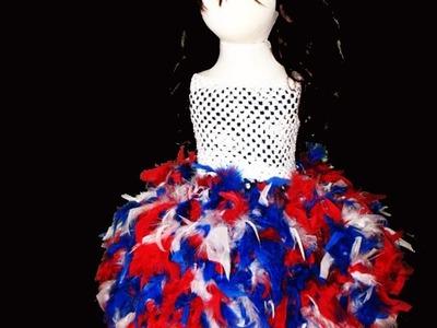 No Sew Feather Tutu Dress Tutorial
