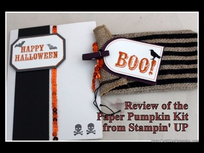 Paper Pumpkin Kit from STAMPIN UP Review