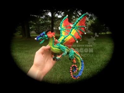 Part 1.4 Rainbow Loom Glory.RainWing from Wings of Fire (1 Loom)