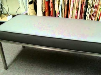 Part Two: After Picture of Leather Bench