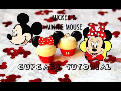Polymer Clay Mickey&Minnie Mouse Cupcake Tutorial (2in1) | Pasteldaisy