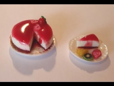 Polymer Clay Miniature - A Cheese Cake