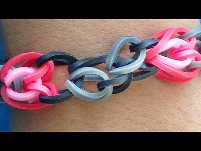 Rainbow Loom Bracelet - Hearts & Chains made with Loom Bands