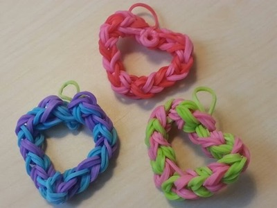 RAINBOW LOOM HEART *NEW* How to make