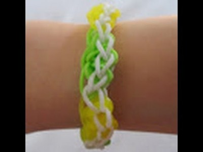 Rainbow Loom- How to make a Lemon Lime Bracelet (Original Pattern)