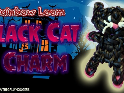 Rainbow Loom Tutorial: Black Cat Charm Action Figure or Salem Cat - How To