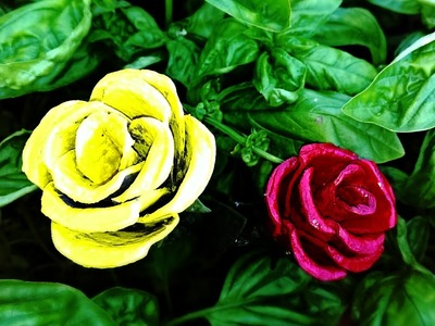 Recycled diy: how to make a  rose using egg carton