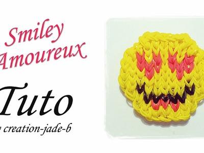 Tuto Rainbow Loom - Mural sans fond, Smiley Amoureux !