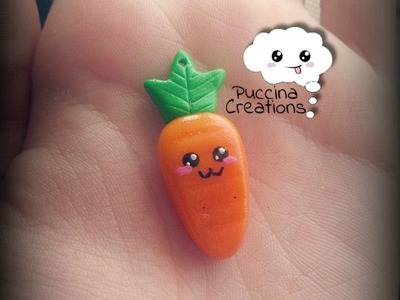 Tutorial Carotina Kawaii - Carrot (Fimo.Cernit.Premo.Polymer Clay)