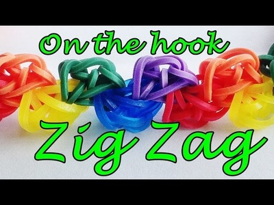 Zig Zag Loom Bands Bracelet without the Rainbow loom (hook only)