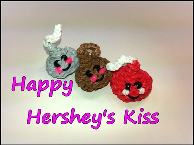 3-D Happy Hershey's Kiss (Chocolate Chip) Tutorial by feelinspiffy (Rainbow Loom)