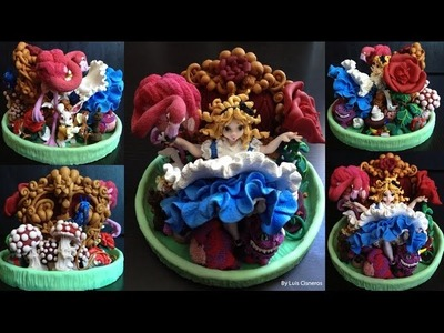 Alice in Wonderland my first polymer clay sculpture - The complete process