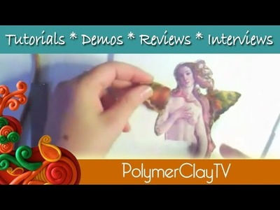 Create a Winged Venus Fairy plaque in this free polymer clay tutorial PCTV198
