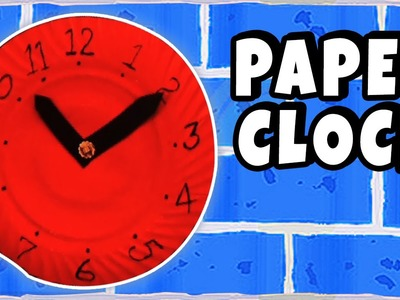 DIY Crafts for Kids | Paper Clock | Craft work with waste materials | Telling Time For Children