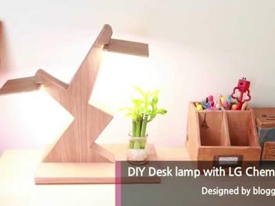 DIY: Desk lamp using LG Chem OLED light panel