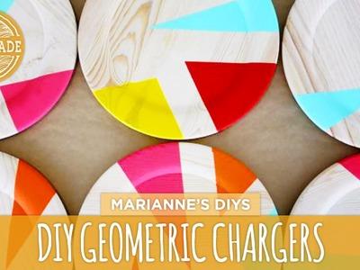 DIY Geometric Plate Chargers - HGTV Handmade