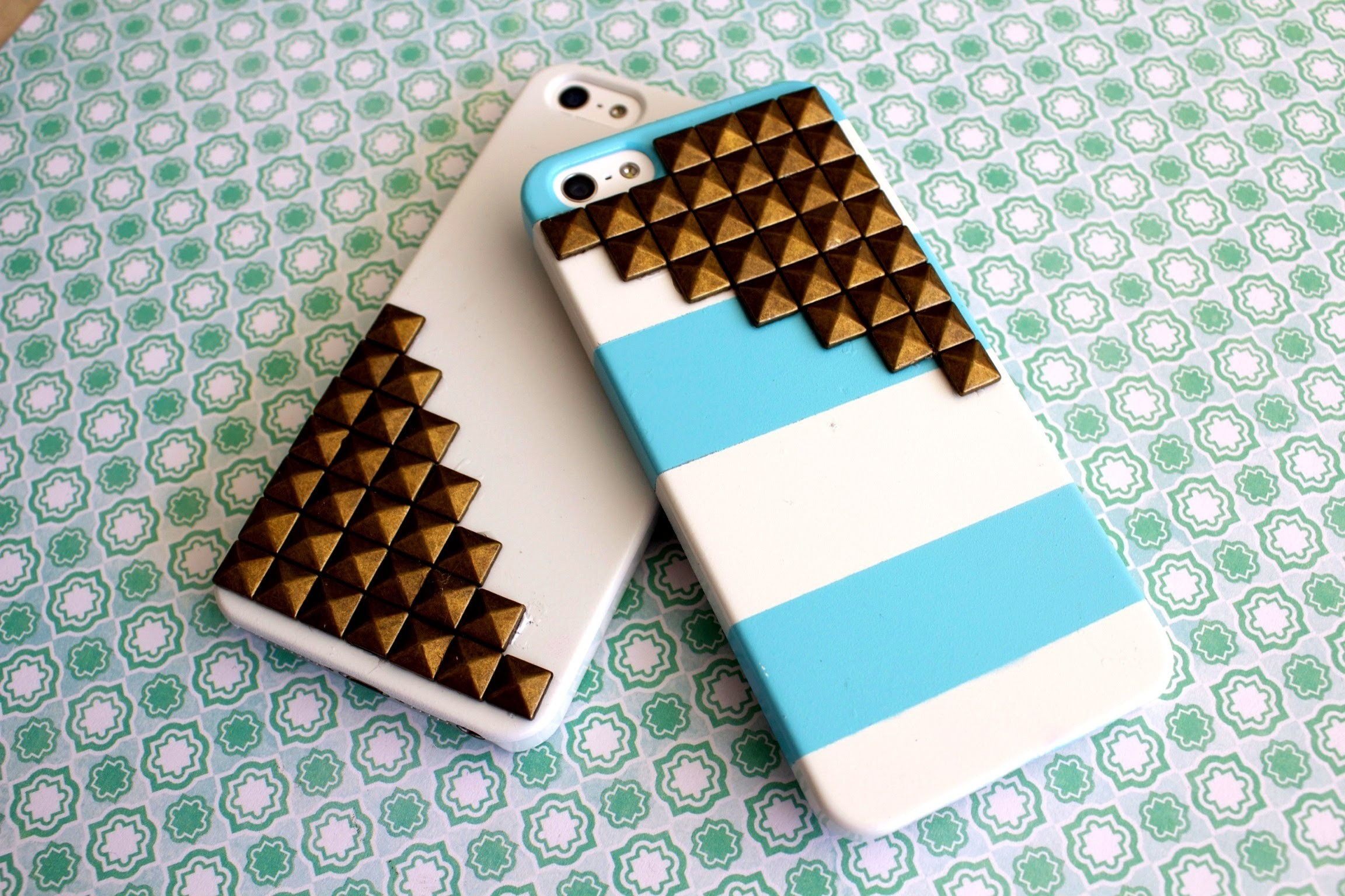 DIY Studded Cell Phone Cases!