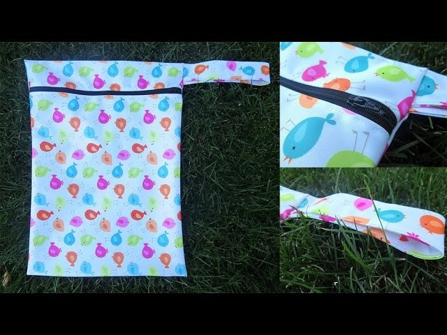 DIY: Travel  Wet Bag For Cloth Diapers
