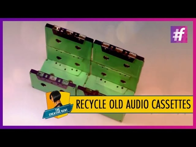 DIY Tutorial - How to Upscale Old Audio Cassettes to Newspaper Holder