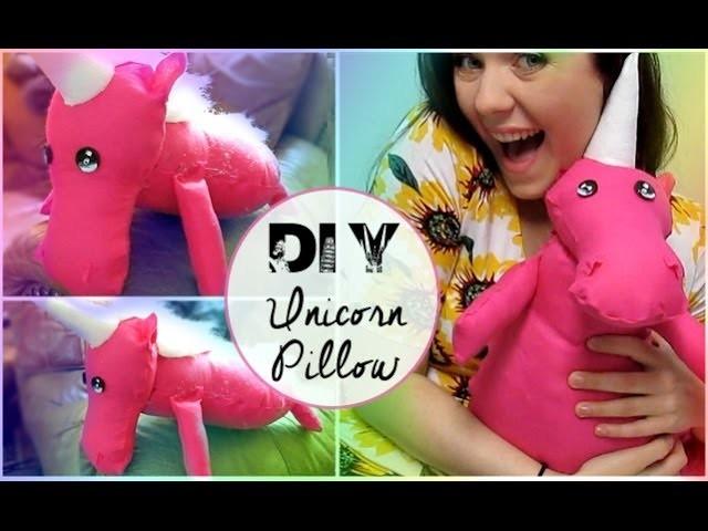 DIY Unicorn Pillow (NO SEW)