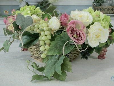 Flowers & Floristry Tutorial: How to make a Grapevine and Roses Wreath
