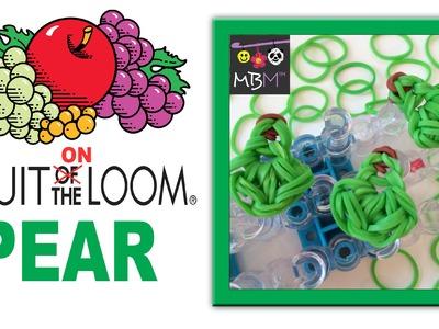 Fruit ON the Rainbow Loom - Pear Charm for Bracelets or Dolls