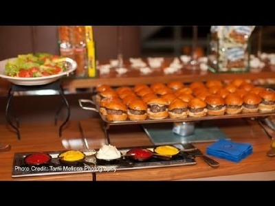 How to Arrange a Serving Line for a Wedding Reception : Great Wedding Ideas
