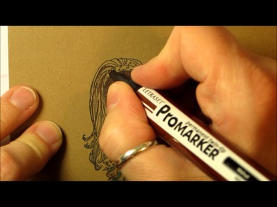 How to colour on Kraft paper with Promarkers.