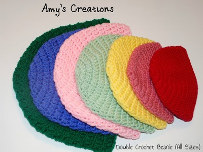 How to Crochet a Double Crochet Beanie Hat (All Sizes)