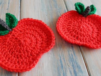 How to Crochet an Apple Coaster. Bunting