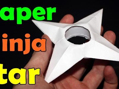 How to Make a Cardboard. Paper Ninja Star
