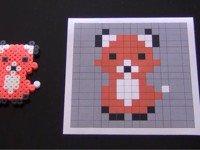How to Make a Cute Perler Bead Fox