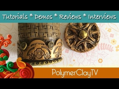 How to make a polymer clay jar with fitting lid using textures and molds