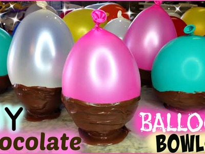How to Make BALLOON Chocolate Bowls