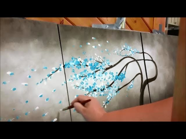 How to paint a tree blowing in the wind STEP by STEP
