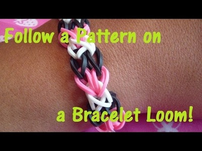How to Use a Bracelet Loom Pattern: Honeycomb Bracelet Pattern