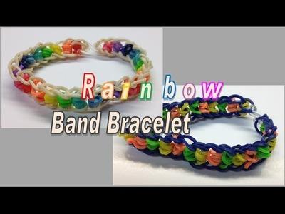 Rainbow Loom Band Bracelet make without the Rainbow Loom