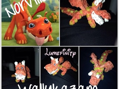 Rainbow Loom bands Norville - Wallykazam Figure Charm by Lumefinity - How to