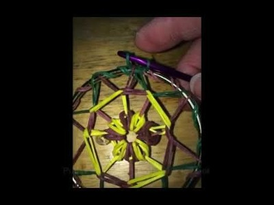 Rainbow Loom Dream Catcher 2 Medium