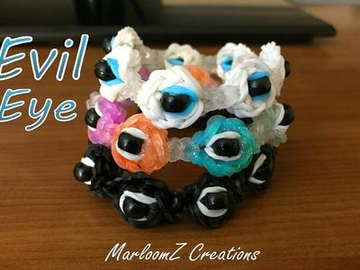 Rainbow Loom Evil Eye Bracelet - Good Luck Charm