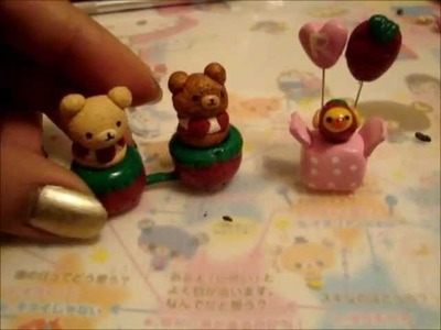 Rilakkuma Strawberry Sweets Rement Polymer Clay Tutorial