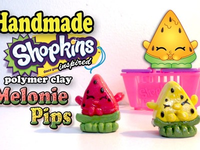 Season 1 Shopkins: How To Make Melonie Pips Polymer Clay Tutorial!