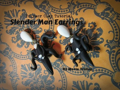 Slender Man Earrings Polymer Clay Tutorial