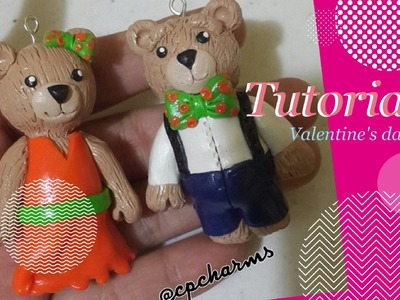 TUTORIAL: Polymer Clay Bear Couple♥ Valentine's Day!♥
